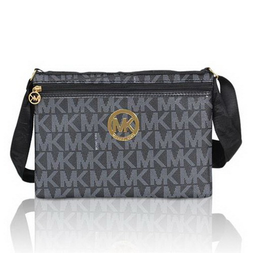20f34eefd9c271 Wholesale Price Michael Kors Jet Set Logo Large Black Crossbody Bags Outlet
