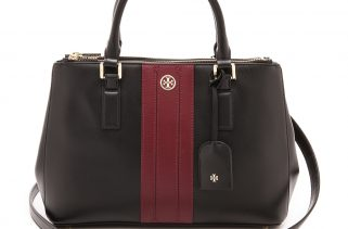 Tory Burch Mini Robinson Stripe Satchel