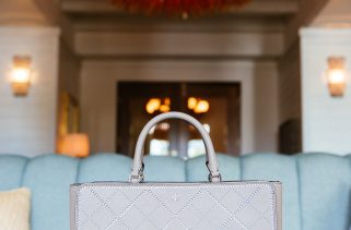 Tory Burch Robinson Crosshatch Large Zip Tote, $650