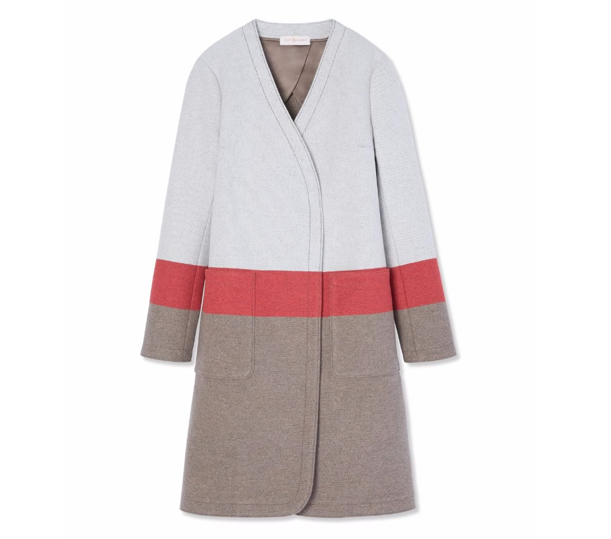 Tory Burch Stripe Blanket Coat