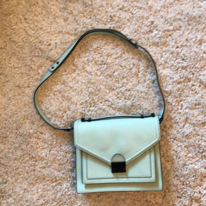 eb33e1521693 Replica Bags Clearance Loeffler Randall Purse Mint Leather Cross Body Bag. Michael  Kors Handbags